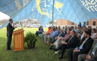 Celebrating its partnership with First Financial Bank, SAU breaks ground for new poultry education center