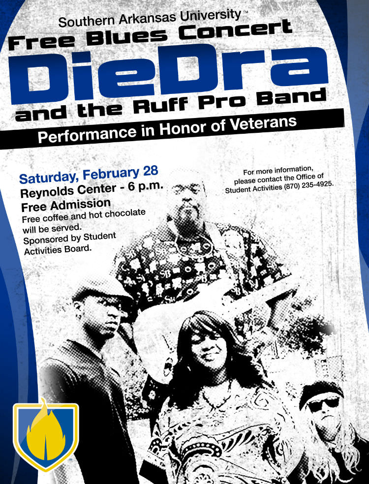 Flyer - DieDra and the Ruff Pro Band concert